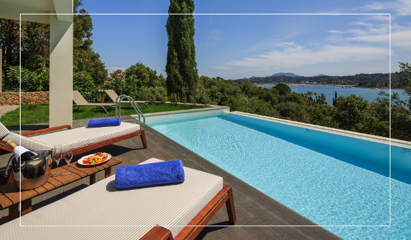 private pool villa corfu
