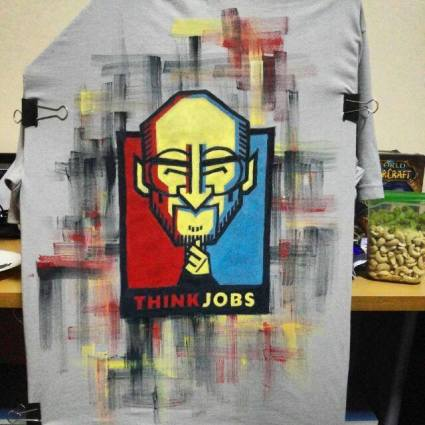 """""""Think Jobs"""" - shirt commission requested by Marc"""