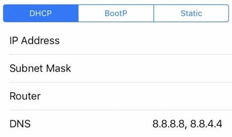 truco para Cambiar DNS en iOS