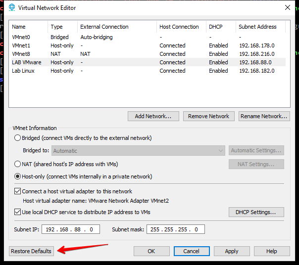 VMware Workstation Pro 15 – Parte 09 (Configurações de Rede
