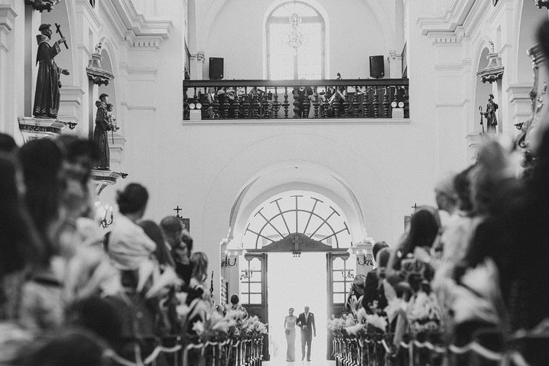 Casamiento en la Basílica de Nuestra Señora del Rosario en Recoleta