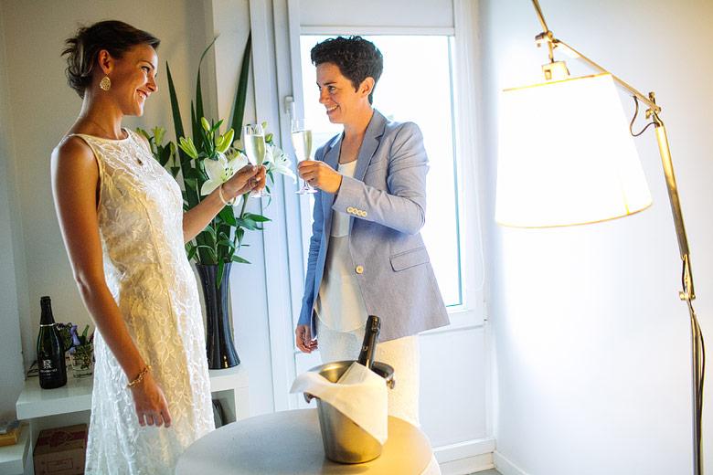 Preparacion de novia en el Own Hotel de Palermo Hollywood