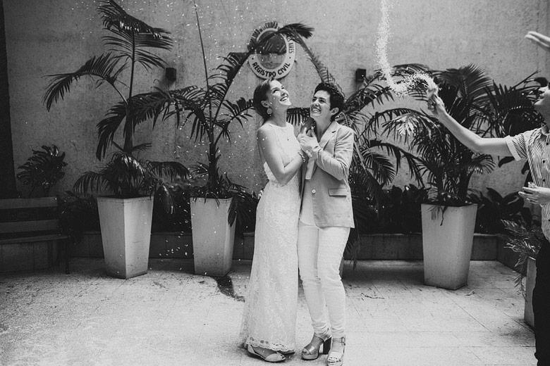 Fotoperiodismo de boda de personas del mismo sexo en Argentina