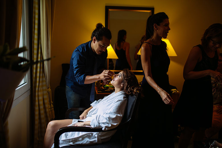 Getting Ready novia en Hotel Sofitel