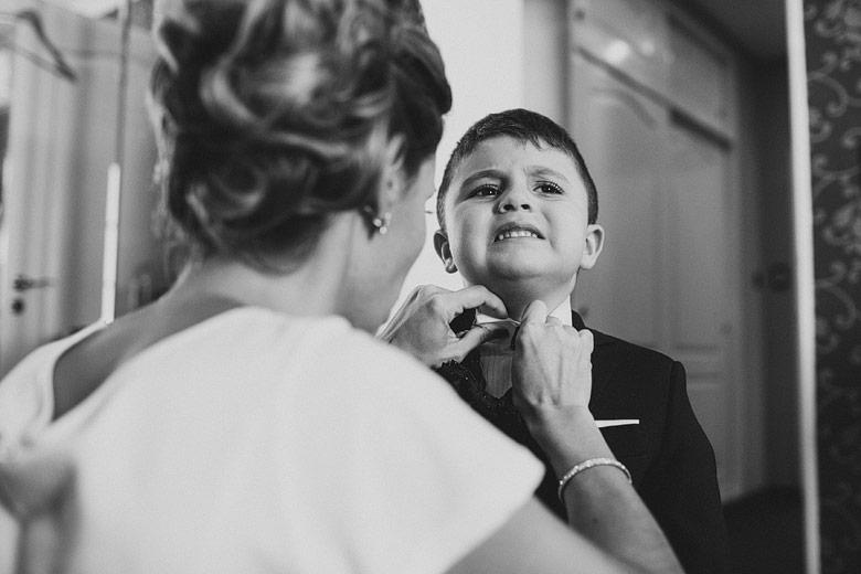 foto espontánea de casamiento