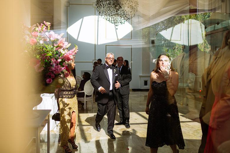 Foto creativa de casamiento palacio leloir
