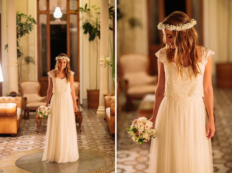 vestido de novia por Inés Duggan