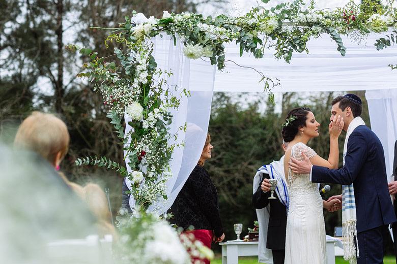 Ceremonia judia al aire libre