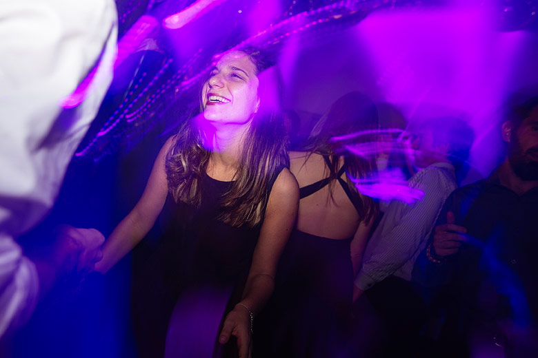 foto larga exposicion baile fiesta