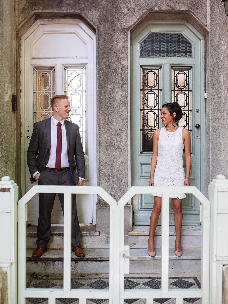 sesión de fotos de recien casados en exteriores