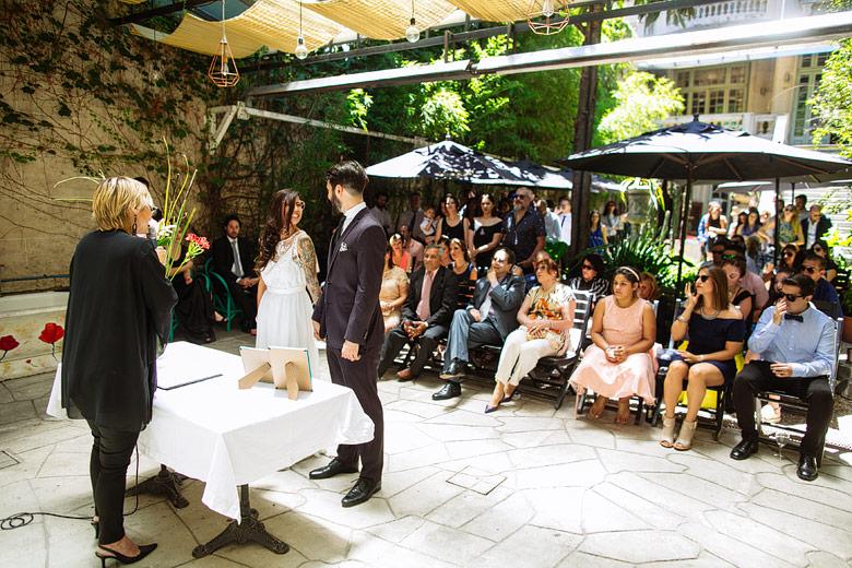 ceremonia de casamiento diurna