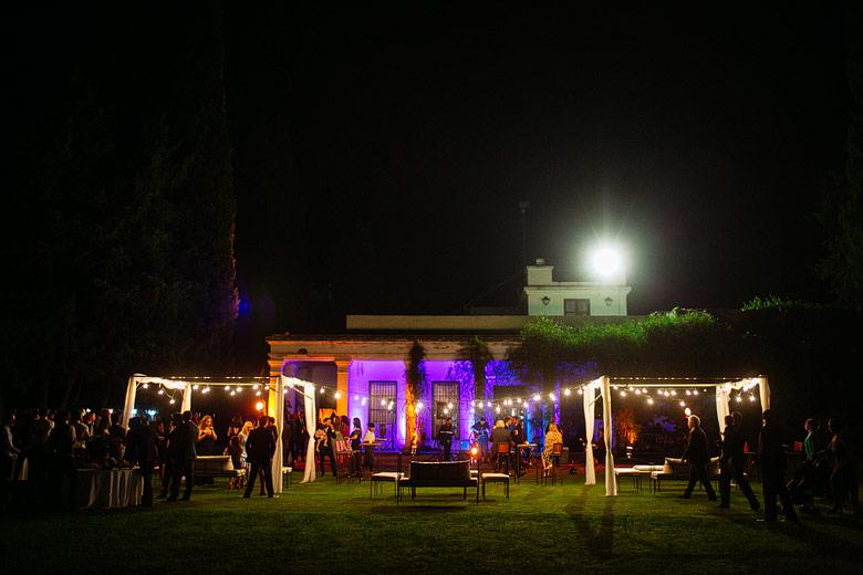 casamiento de noche en estancia el rincon