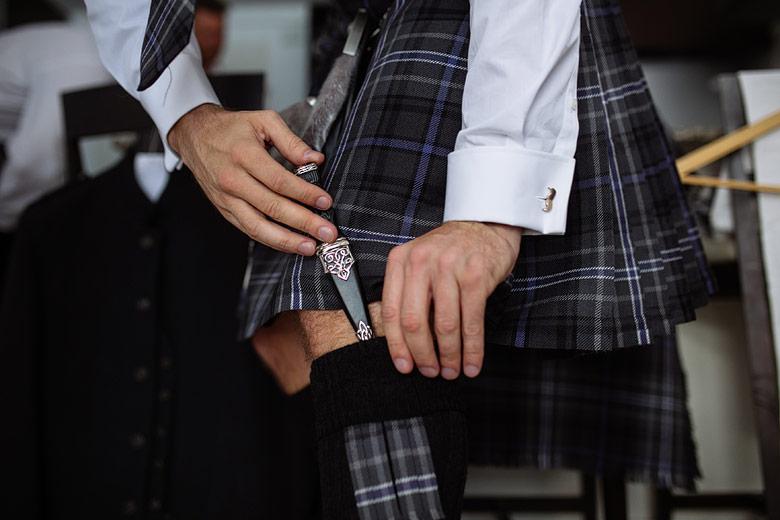 scotish groom detail