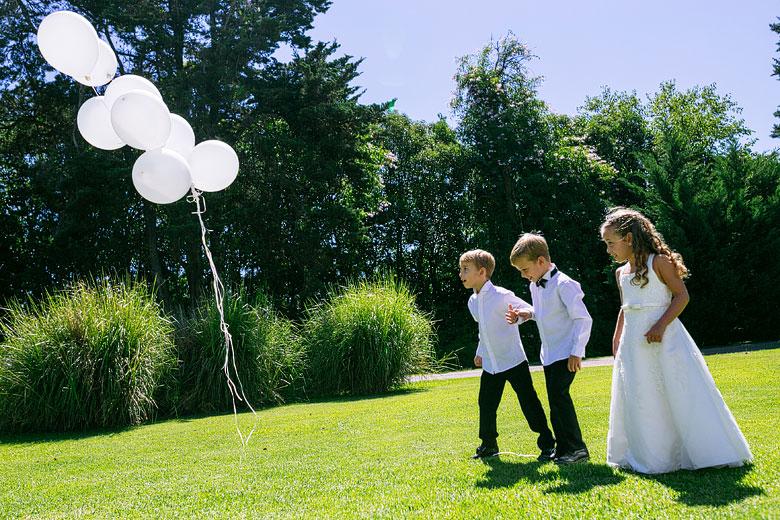 suelta de globos en casamiento
