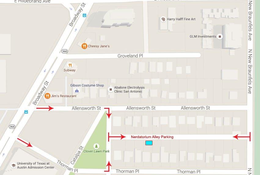 Nerdatorium Location Map