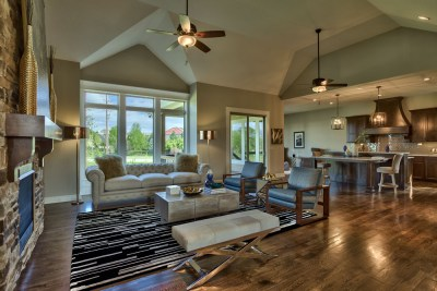 Anthem reverse great room with vaulted ceiling