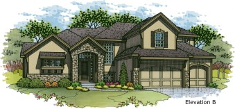 Cimarron elevation B color rendering