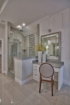 Master Bath Makeup Area in the Coronado