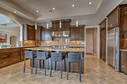 The kitchen of a custom build job home built in Leawood