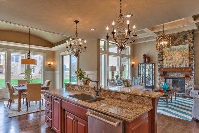 El Dorado granite topped kitchen island