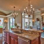 El Dorado granite topped kitchen island