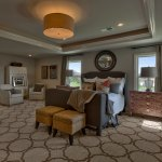 Hepton Master Bedroom with light tray