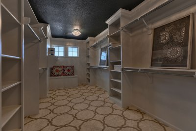 Hepton Master Closet with painted black ceiling