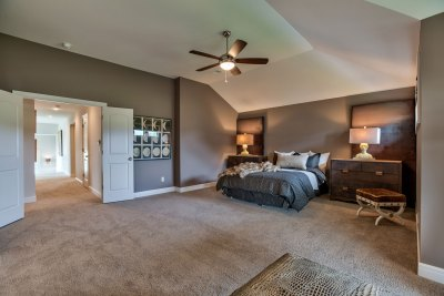 Lancaster Master bedroom with angled ceiling