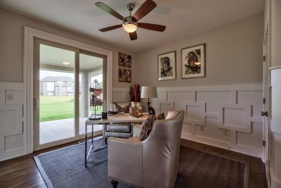 Lancaster EX home office with access to back porch