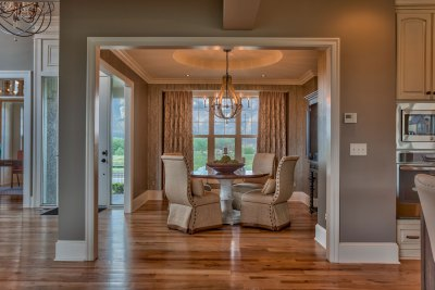 Larsen EX dining room with hardwood floors