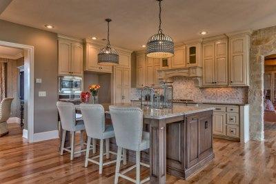 Larsen EX kitchen island with granite top