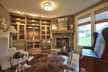 Hearth Room of Wyngate's Larsen II plan.