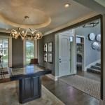 Larsen EX dining with circular ceiling treatment