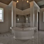 Custom build home with stand alone tub