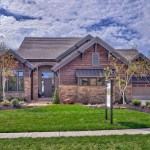 rustic custom home front elevation photograph