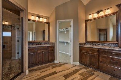 Wakefield master bath with tiled floor