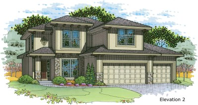 Weston elev. 2 color rendering