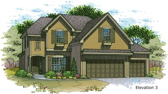 Weston Elev. 3 color rendering