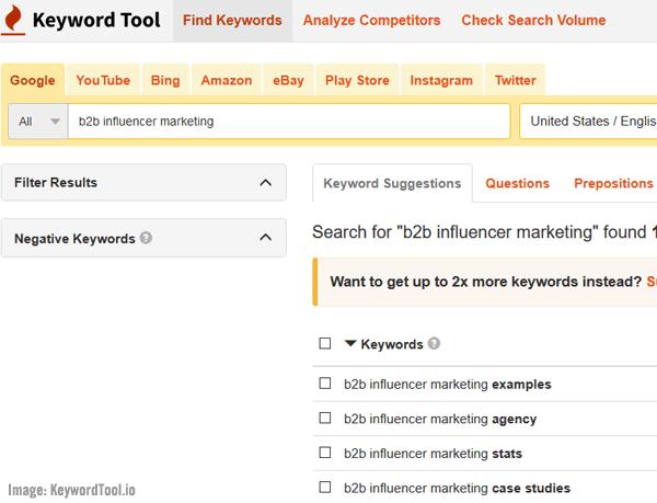 KeywordTool.io screenshot image.