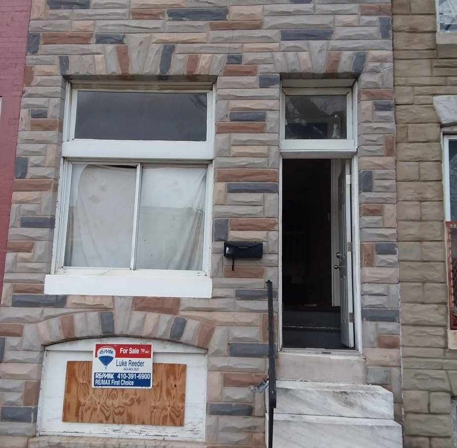 2528 E Hoffman St, Baltimore, MD 21213 Purchase and Renovate Single Housing Project