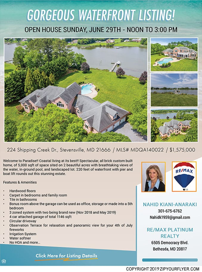 224 Shipping Creek Dr., Stevensville, MD 21666 Flyer