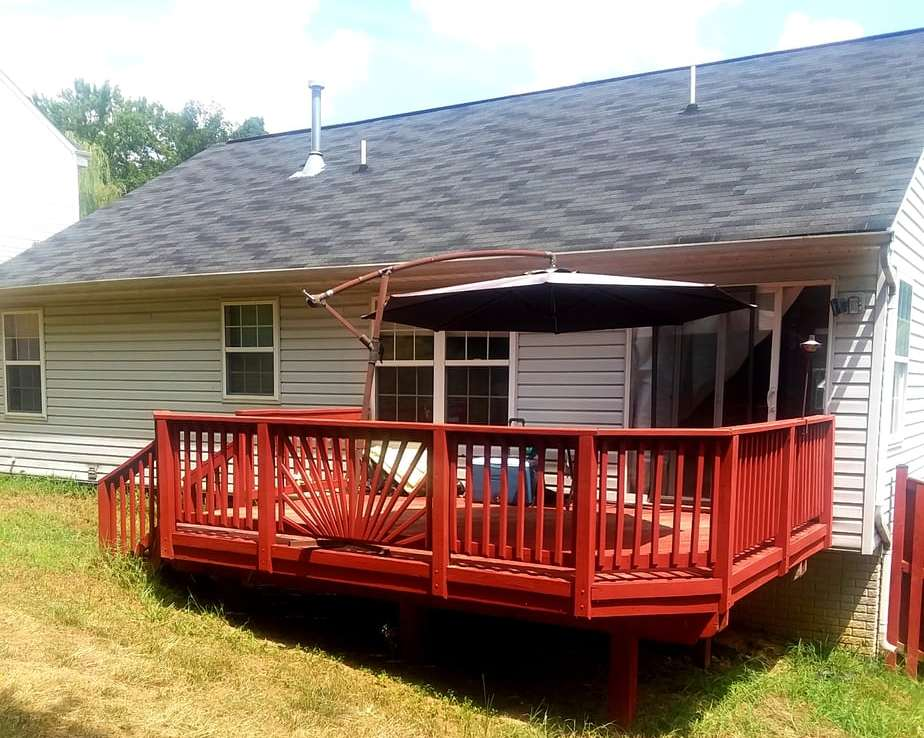 1602 SHADY GLEN DRIVE, DISTRICT HEIGHTS, MD 20747 Rear Deck and Yard Left Side