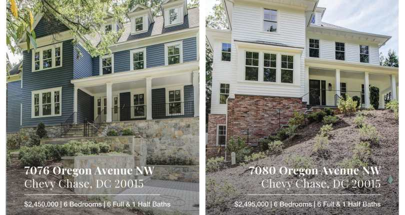 Two New Construction Available for Sale Soon in Chevy Chase, DC