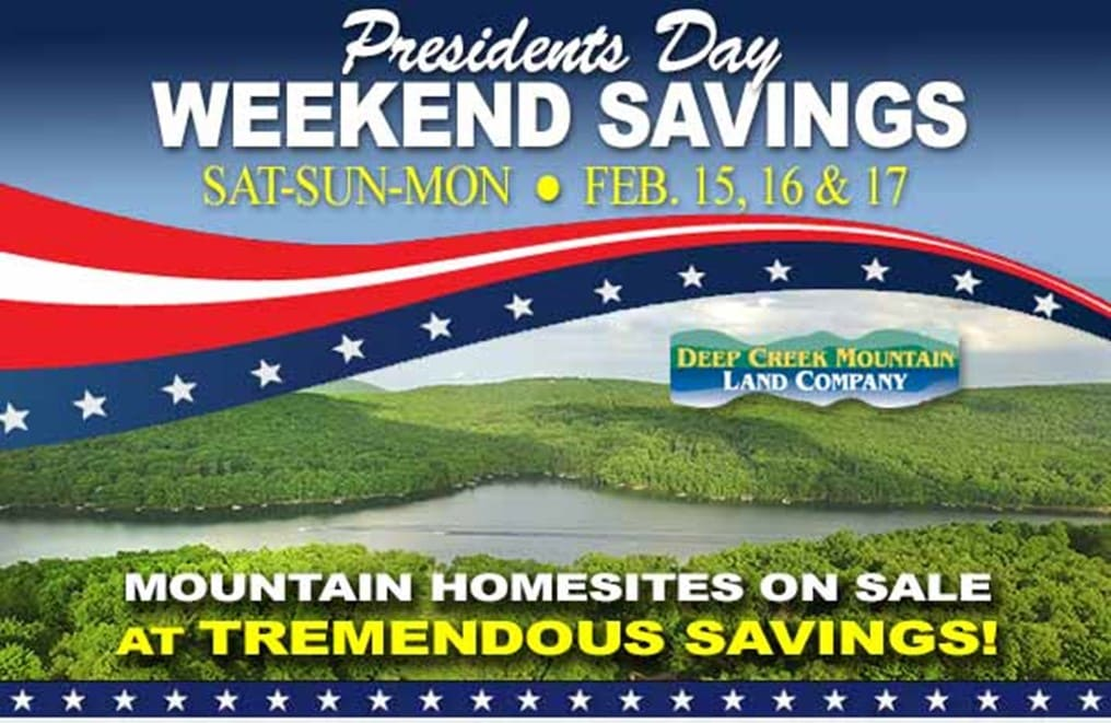 Save on Homesites at this Presidents Day Weekend Sale