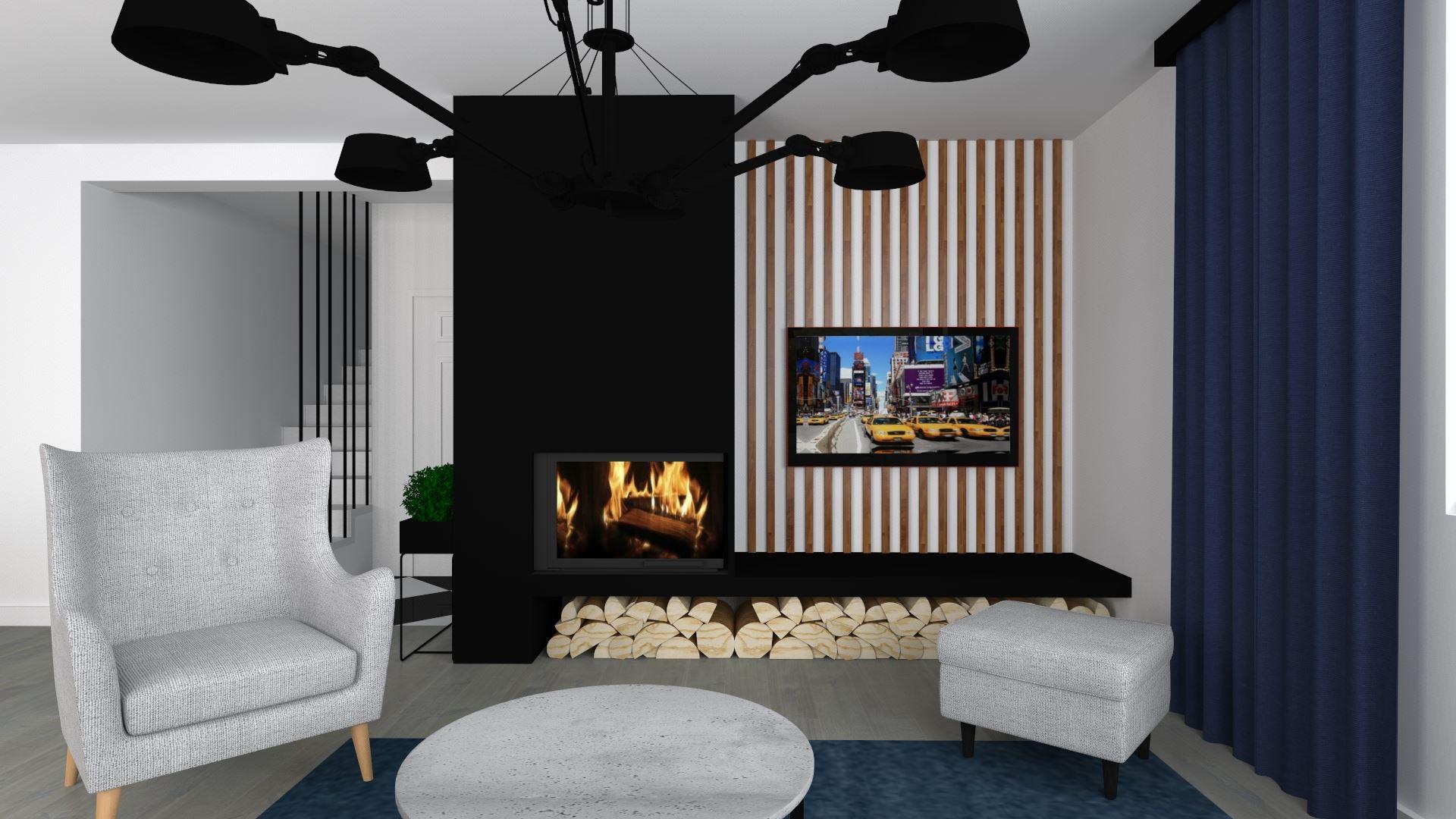 Wizualizacja naszego salonu- miejsca rodzinnych spotkań i odpoczynku.