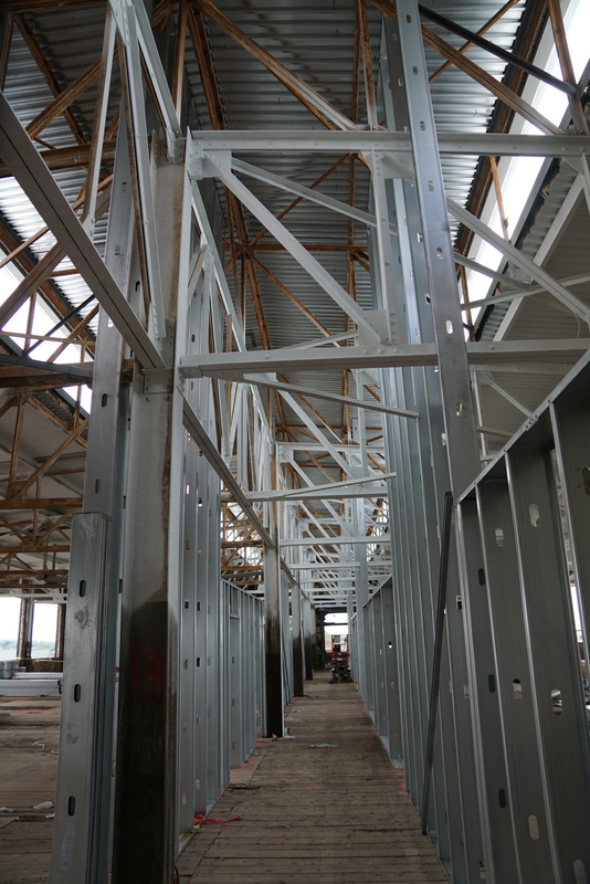 Hall framing 4th floor