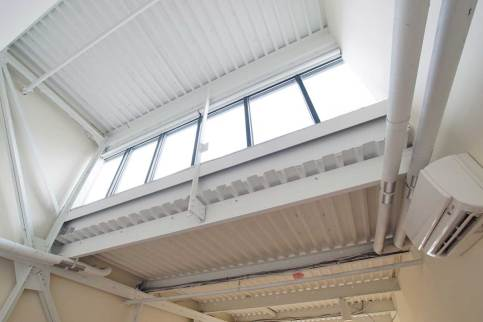 Clerestory Curtains Up