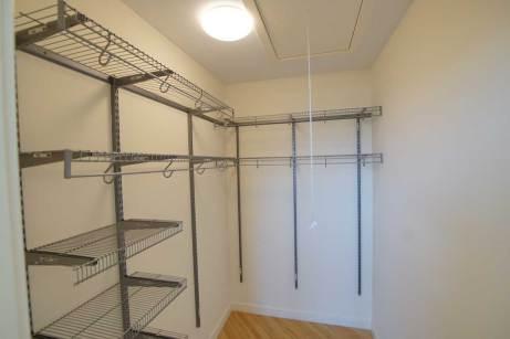 Walk in closet off lower bedroom
