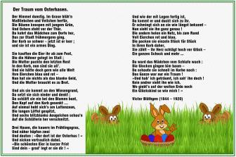 Der Traum vom Osterhasen – Victor Blüthgen