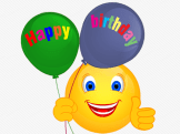 Smiley – ballon – happy birthday